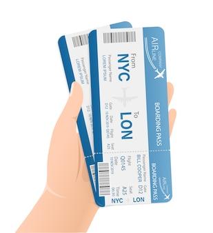 Vliegtickets voor papier. sjabloon. zakelijk. .