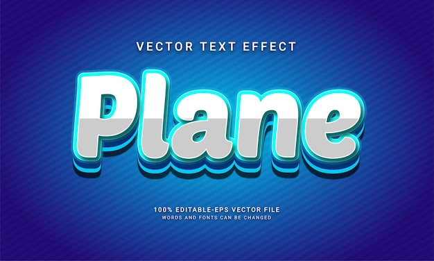 Vliegtuig bewerkbare teksteffect thema vlucht