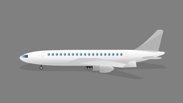 Vliegtuig geïsoleerd vlakke afbeelding