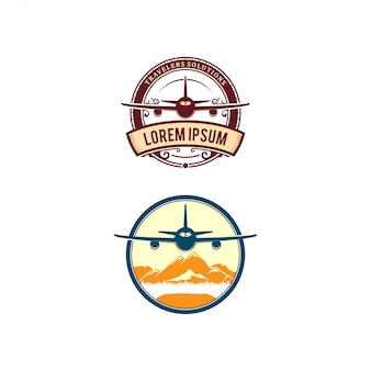 Vliegtuig gerelateerde logo ontwerp