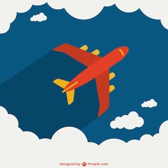 Vliegtuig het oversteken van de hemel