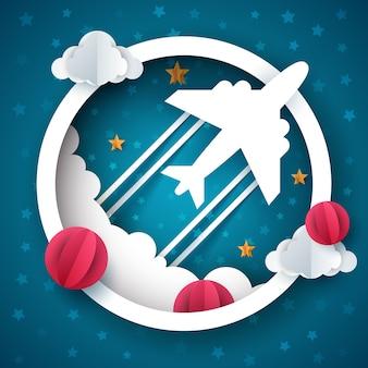 Vliegtuig illustratie.