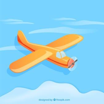 Vliegtuig in cartoon-stijl