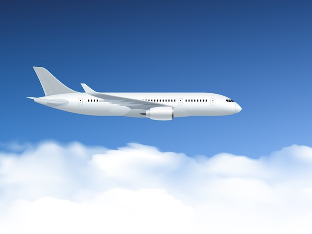 Vliegtuig in luchtaffiche
