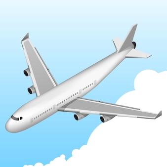 Vliegtuig isometrisch pictogram