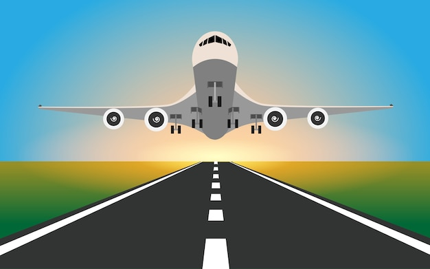 Vliegtuig landt