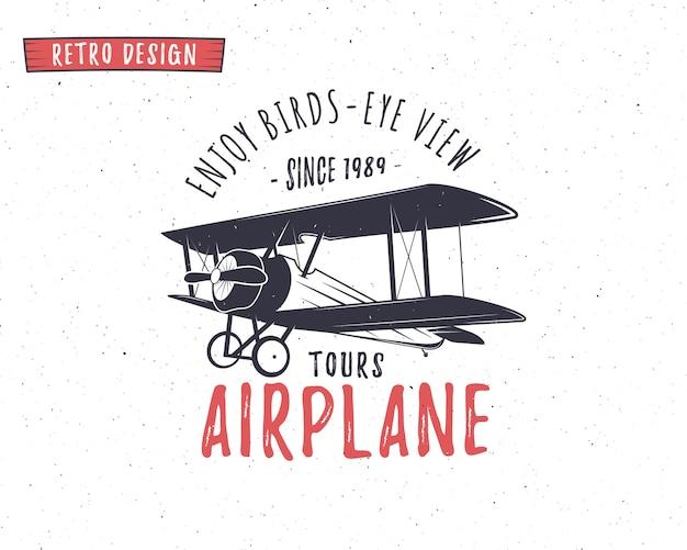 Vliegtuig logo sjabloon