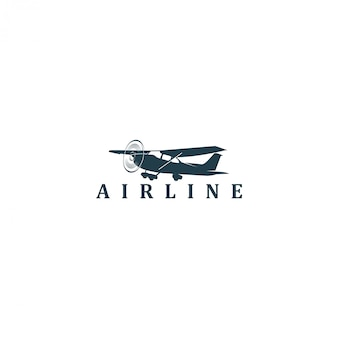 Vliegtuig luchtvaart ruimte logo
