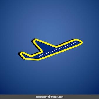 Vliegtuig met gele lijnen