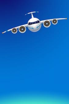 Vliegtuig met sky