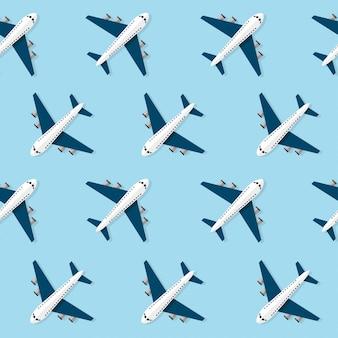 Vliegtuig naadloos patroon