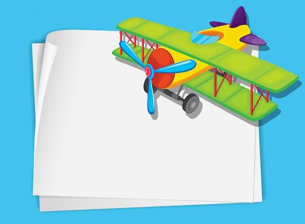 Vliegtuig papier