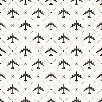 Vliegtuig patroon illustratie. creatieve en militaire stijl afbeelding