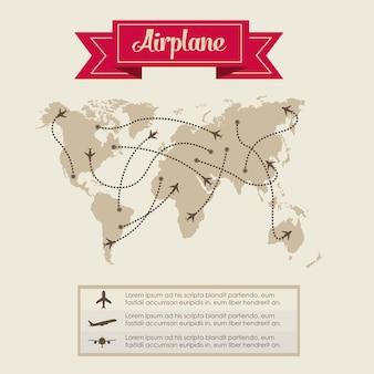 Vliegtuig pictogrammen
