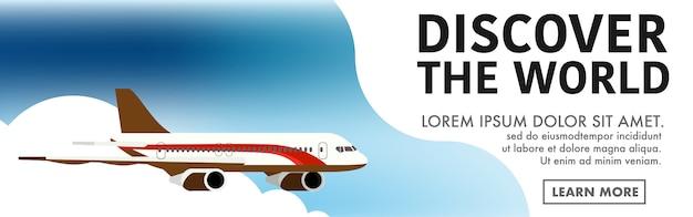 Vliegtuig sjabloon voor spandoek