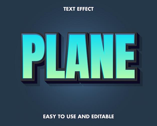 Vliegtuig teksteffect.
