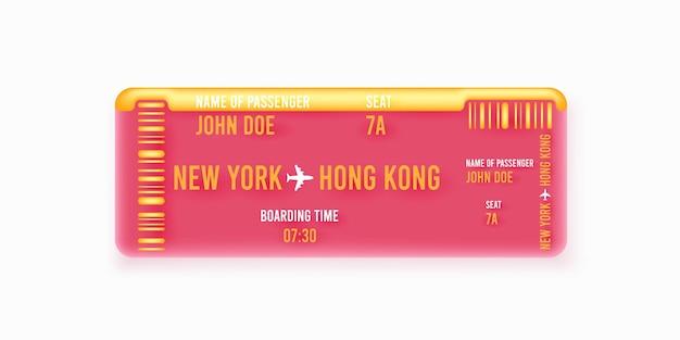 Vliegtuig ticket abstracte illustratie