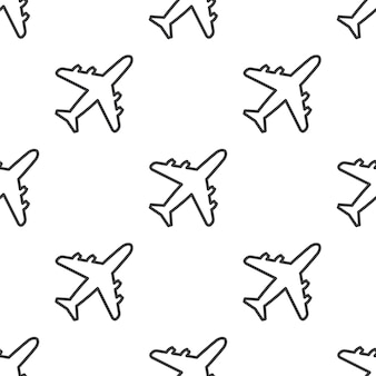 Vliegtuig, vector naadloos patroon, bewerkbaar kan worden gebruikt voor webpagina-achtergronden, opvulpatronen