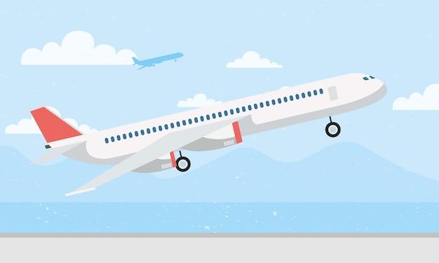 Vliegtuig vliegt