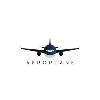 Vliegtuig voorzijde grafische grafisch ontwerpsjabloon geïsoleerd