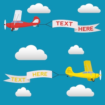 Vliegtuigen achtergrond ontwerp