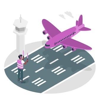Vliegtuigen concept illustratie