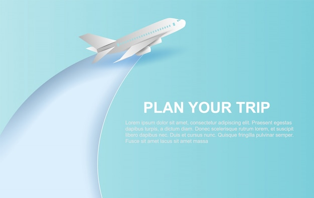Vliegtuigen vliegen op blauwe hemelachtergrond.