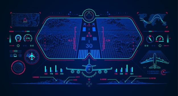 Vliegtuiglandingsinterface in luchtvaarttechnologie