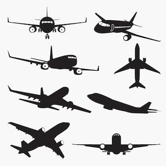 Vliegtuigsilhouetten