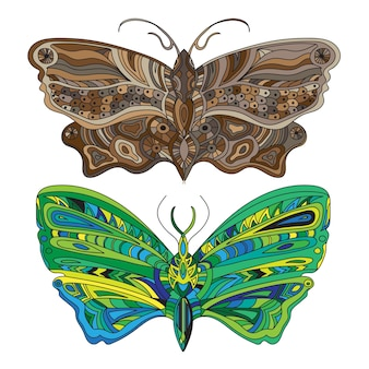 Vlinder creatief concept in felle kleuren - vector