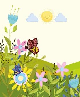 Vlinder in het veld