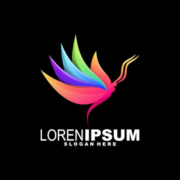 Vlinder kleurrijk logo
