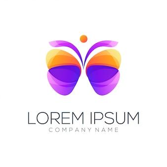 Vlinder logo abstract