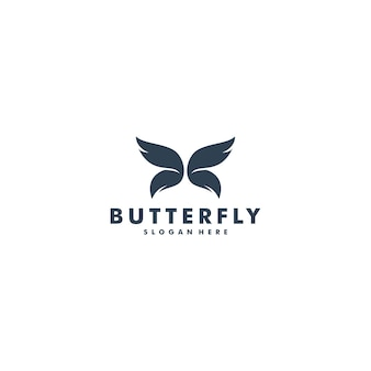Vlinder logo ontwerp vector dier pictogram logo