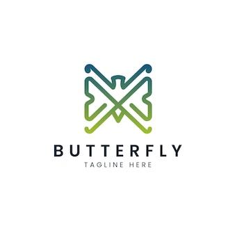 Vlinder logo sjabloon