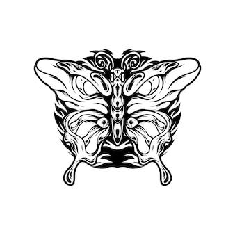 Vlinder met oog silhouet