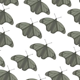 Vlinder naadloos patroon. zomer vlinders.