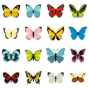 Vlinder pictogrammen instellen