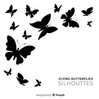 Vlinder silhouetten zwerm achtergrond