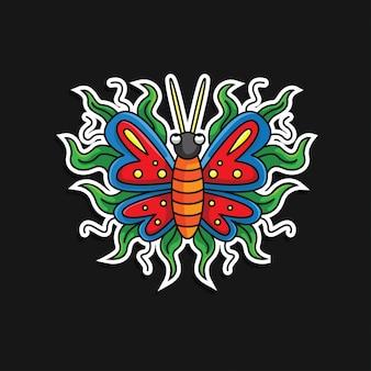 Vlinder sticker pictogram karakter