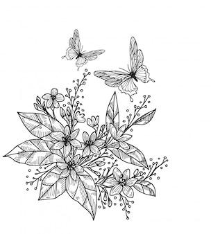 Vlinder tattoo