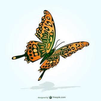 Vlinder vliegt vector