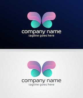 Vlinderlogo ontwerp