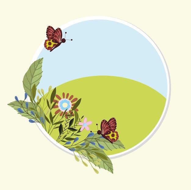 Vlinders lente badge