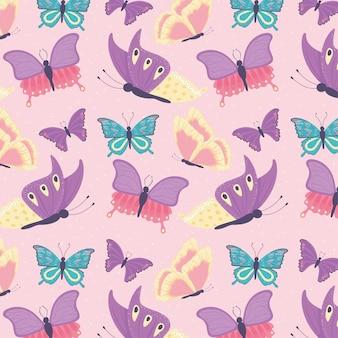 Vlinders naadloos patroon