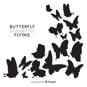 Vlinders silhouetten achtergrond
