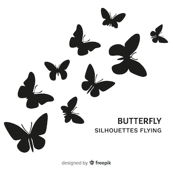 Vlinders vliegen achtergrond