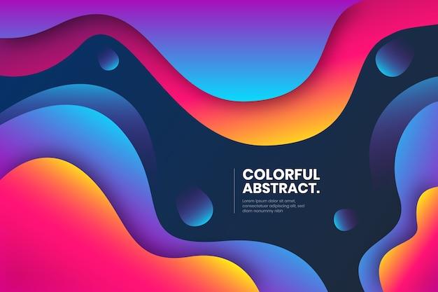 Vloeibaar compositie abstract ontwerp