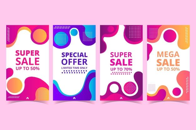 Vloeibaar effect en stippen instagram verkoopverhalen