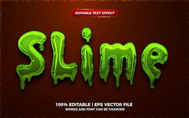 Vloeibaar groen slijm 3d bewerkbaar teksteffect